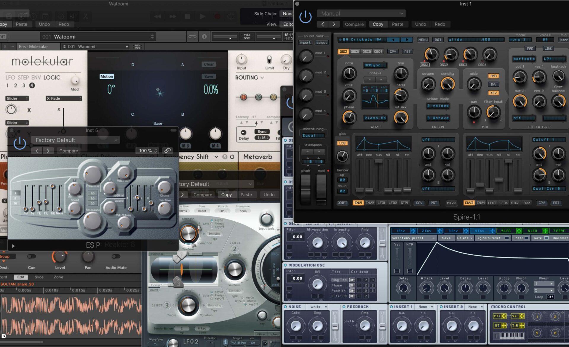 VST плагины и синтезаторы для саунд дизайна